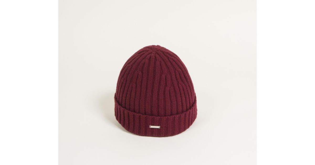 885a14b9554 Lyst - BOSS  t-benzo  Cashmere Classic Ribbed Beanie Hat Red in Red for Men