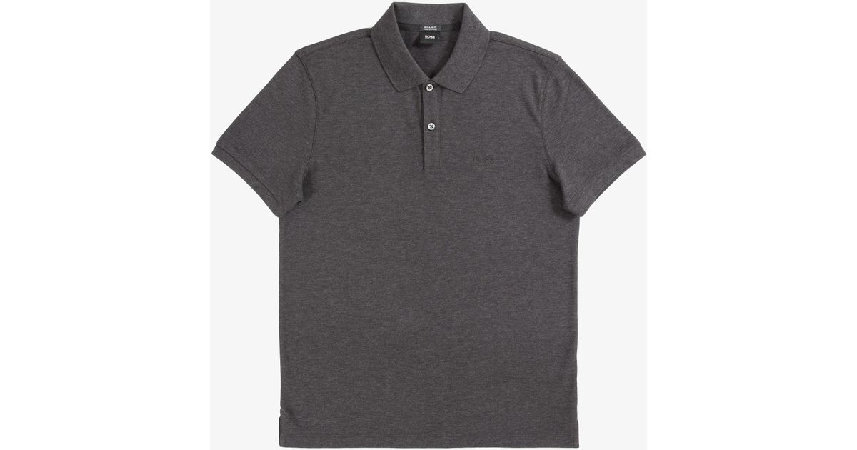 47f486c78 Lyst - BOSS 'pallas' Regular Fit 2-button Polo Dark Grey in Gray for Men