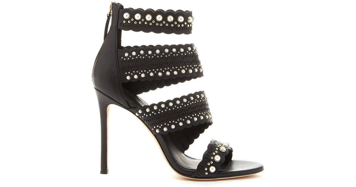 Pour La Victoire Women's Ellura Embellished Leather High-Heel Sandals Zz9QzoJy