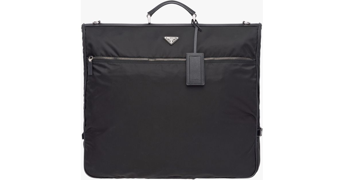 eee79defd0 Prada Black Saffiano Leather And Nylon Garment Bag for men
