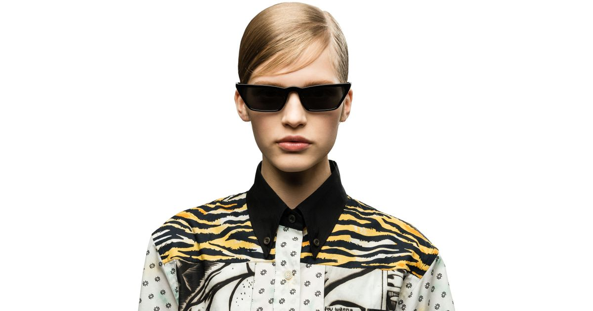 37f3dcba1fa Lyst - Prada Ultravox Eyewear in Black
