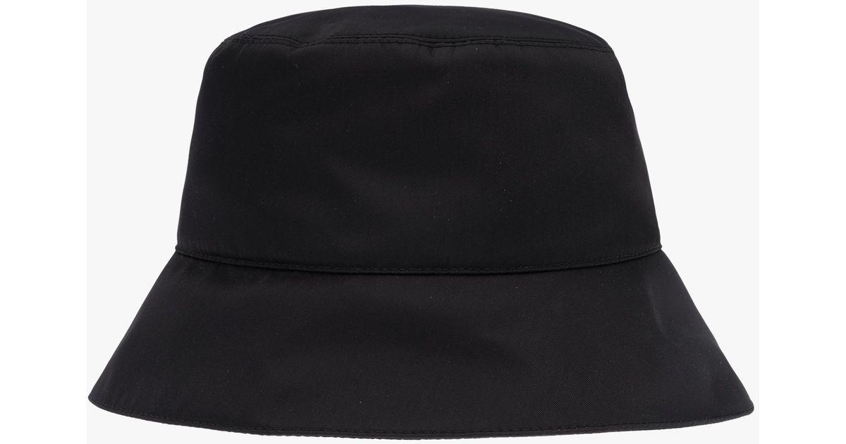 d03800b814a Lyst - Prada Nylon Rain Hat in Black