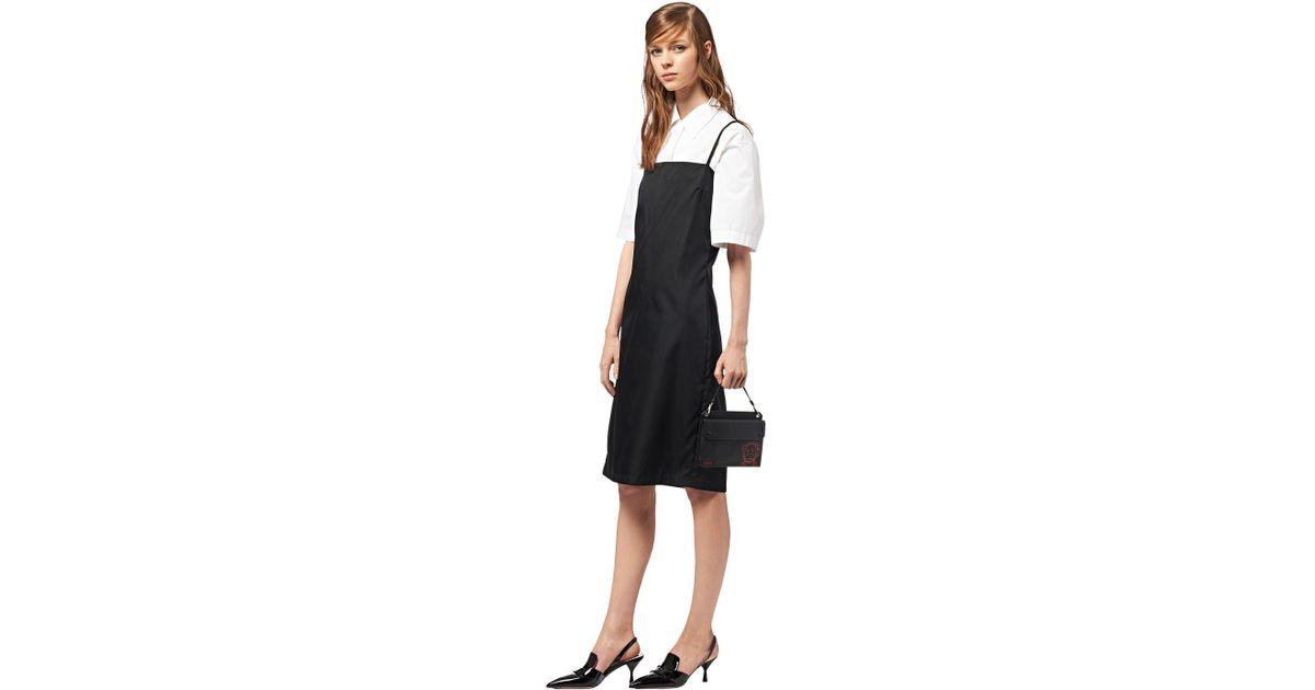 40bf2b990396 Lyst - Prada Malia Saffiano Leather Mini-bag in Black