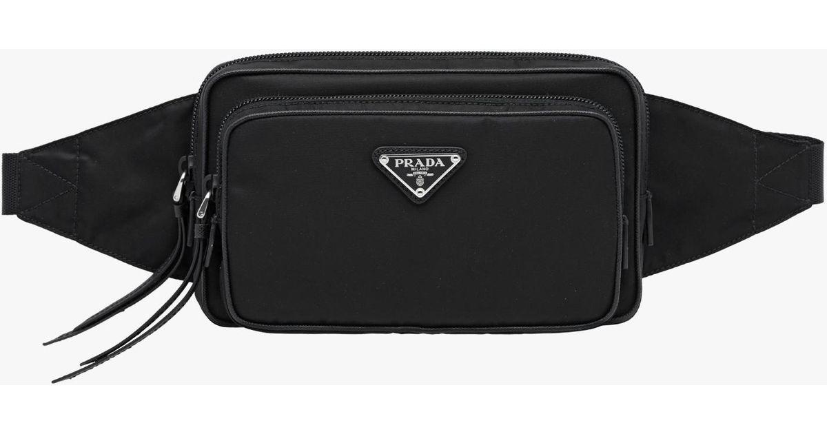 a9d279a2 Prada Black Nylon And Leather Belt Bag for men