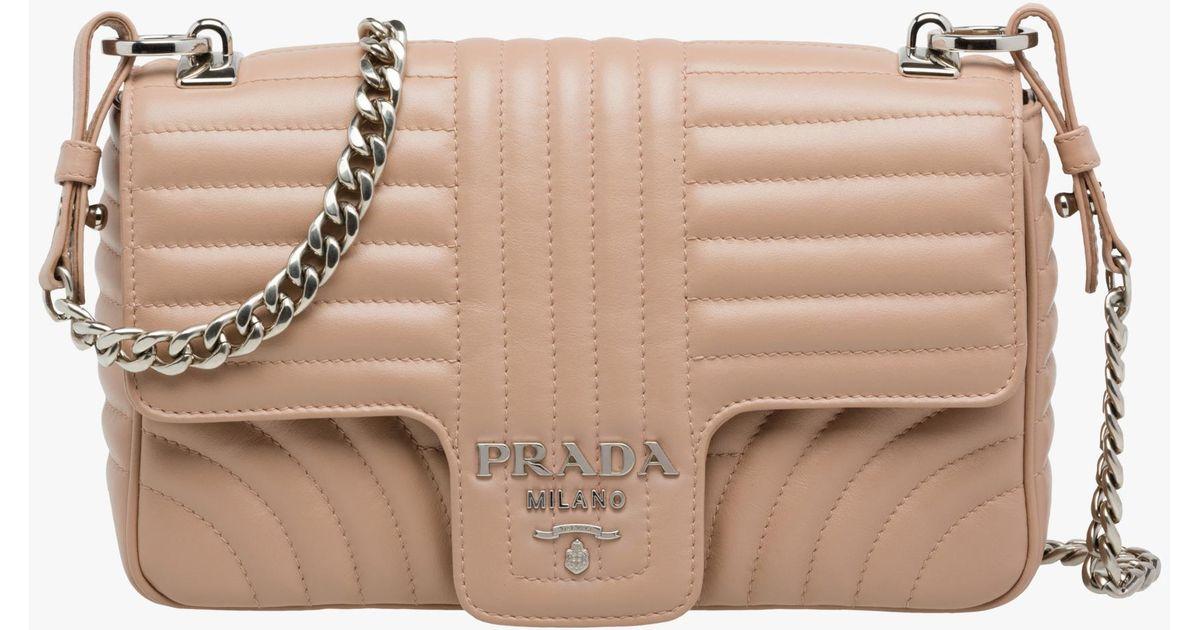c2b25c55ae75 Lyst - Prada Diagramme Leather Shoulder Bag