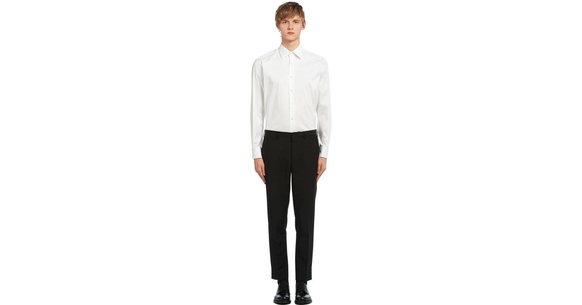 9443776d72 Prada Black Poplin Tuxedo Shirt for men