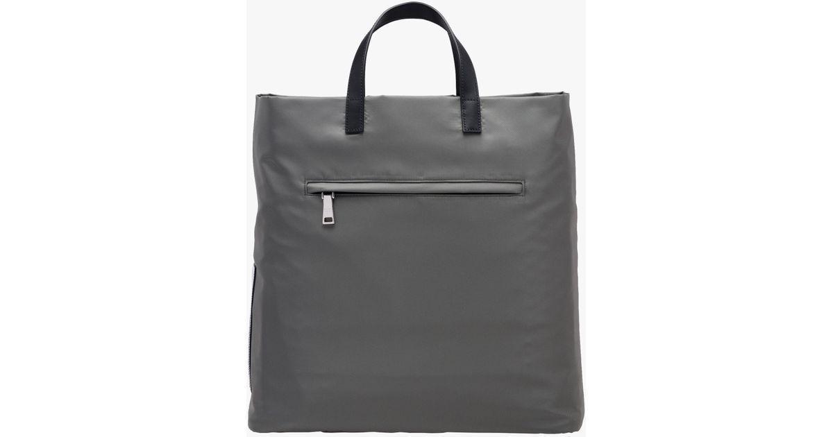 151ad2655239 ... clearance lyst prada technical fabric tote in gray for men 331c7 602f5