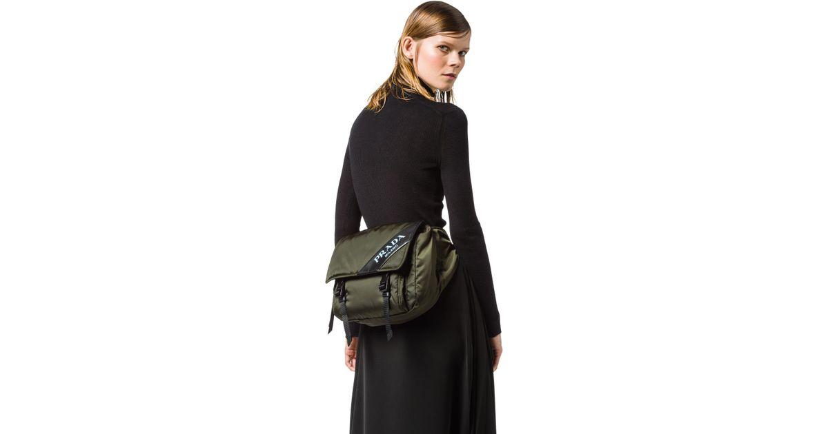 69f0b44b Prada Black Nylon And Leather Belt Bag