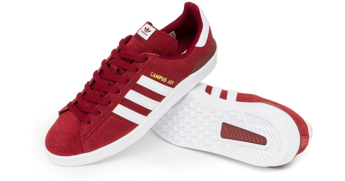 Adidas Red Campus Adv Shoes for men