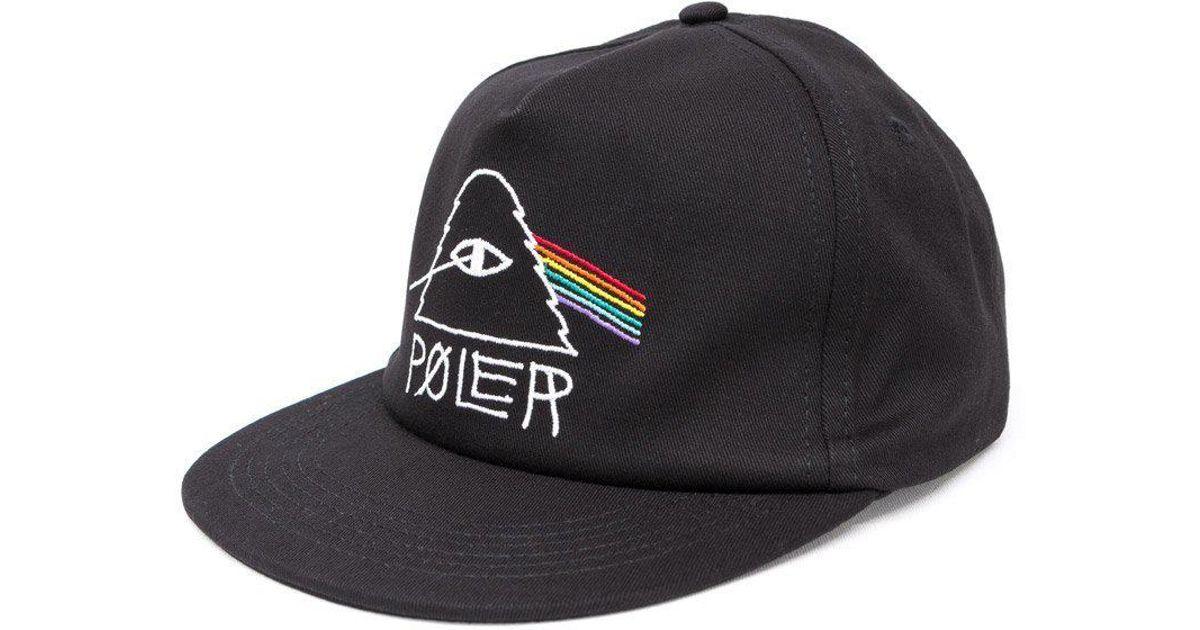 235491b53790e Poler Psychedelic 2 Snapback Cap in Black for Men - Lyst