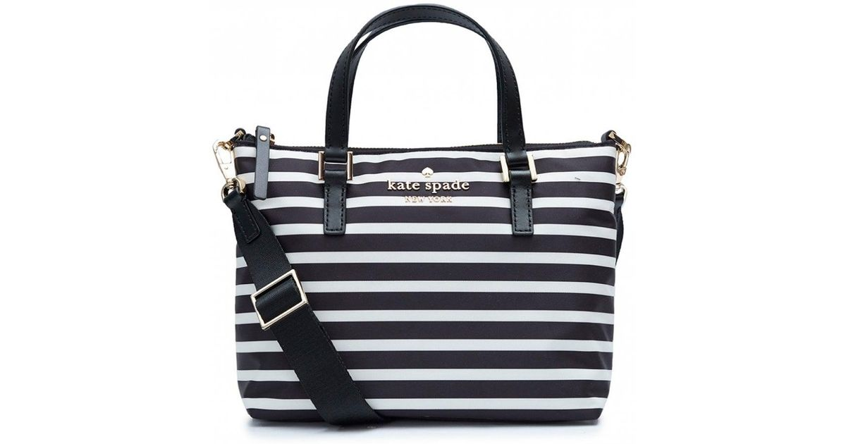 Kate Spade Black And Cream Striped