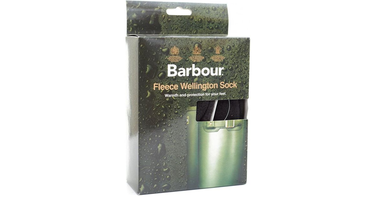 san francisco uk availability sleek Barbour Black Fleece Wellington Socks for men