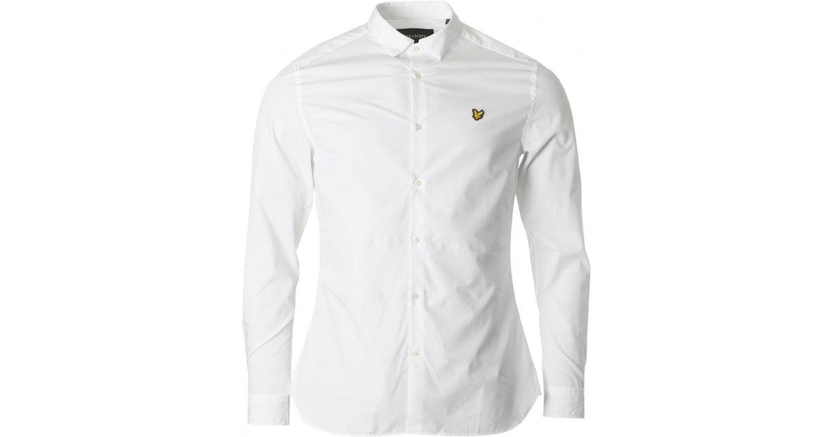 Lyle /& Scott Men Casual Smart Cotton Long Sleeve Poplin Shirt Slim Fit Navy Blue