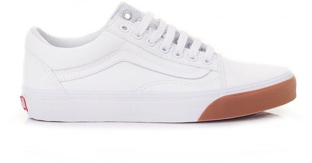 d75a37d7e16b6f Lyst - Vans Old Skool Gum Bumper Trainers in White for Men