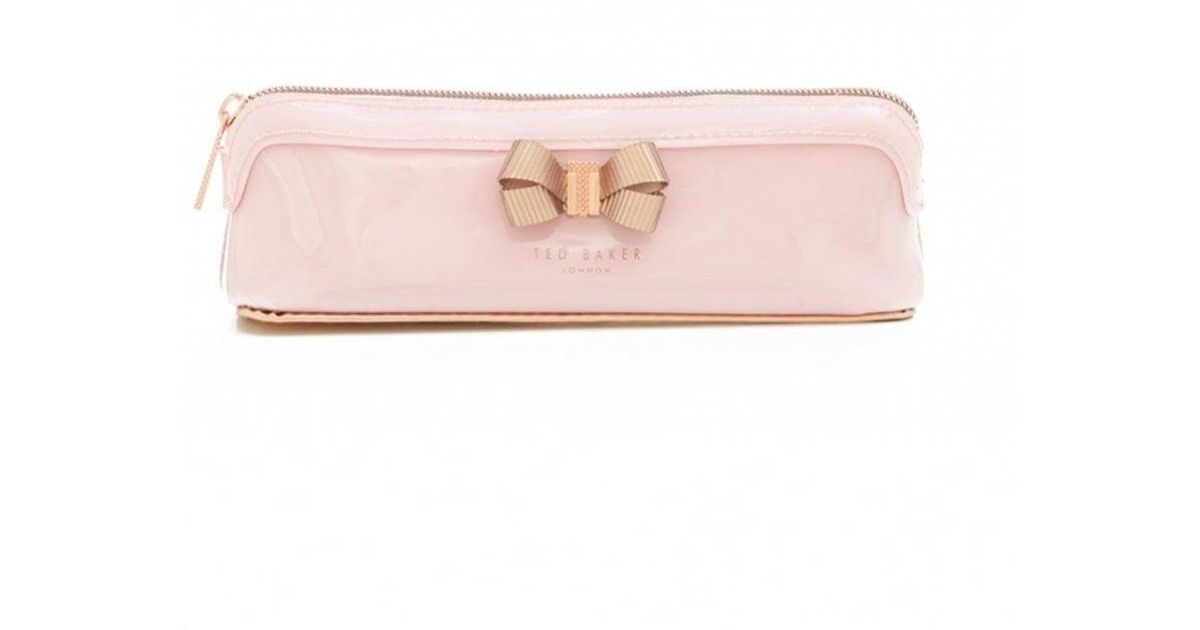 san francisco 64315 be751 Ted Baker Pink Bow Pencil Case