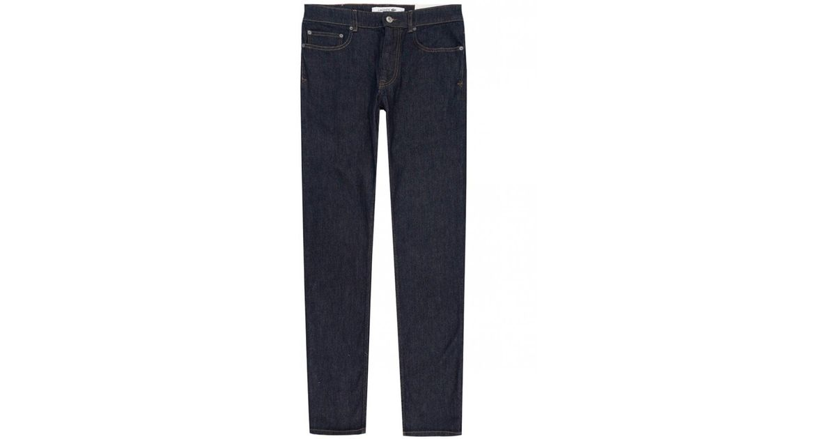 625f5613 Lacoste - Blue Slim Straight Fit Jeans for Men - Lyst