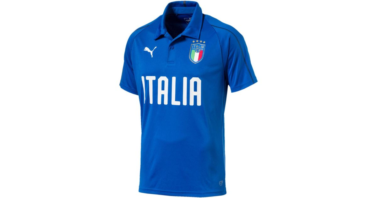 Lyst - PUMA Figc Italia Polo Shirt in Blue for Men 75cc1efbedb0