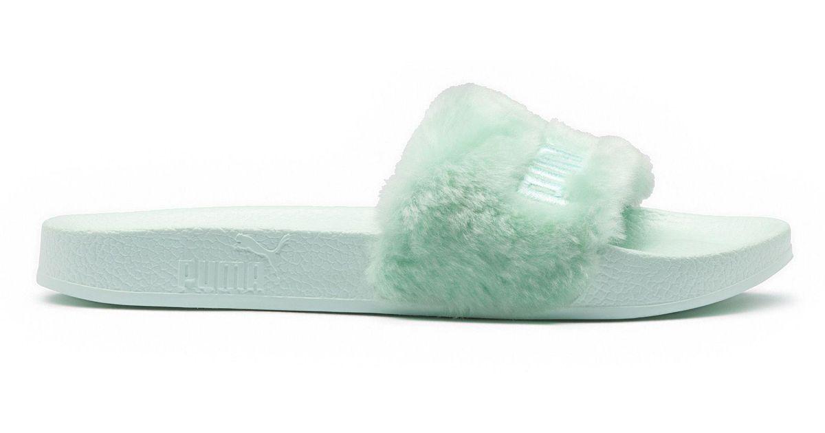 best sneakers e07d7 ec57e PUMA - Green Fenty Fur Men's Slide Sandals for Men - Lyst