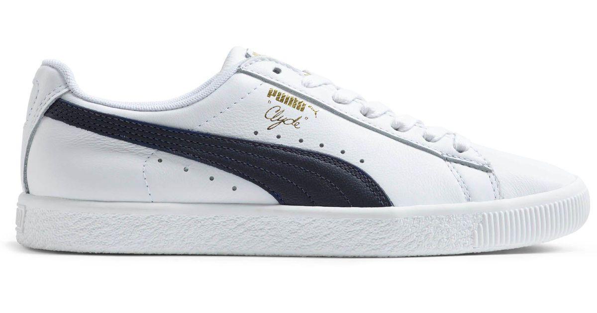 new concept ce0b0 7369b PUMA White Clyde Core Foil Women's Sneakers