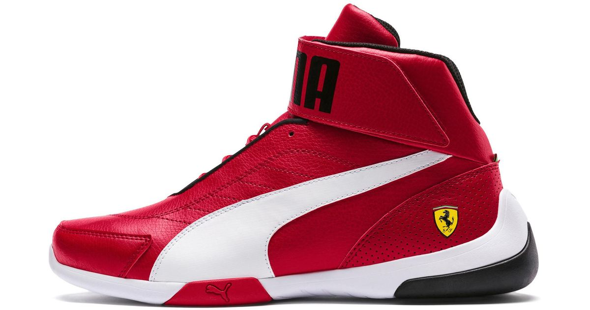 PUMA Red Scuderia Ferrari Kart Cat Mid Iii Hi Top Shoes for men
