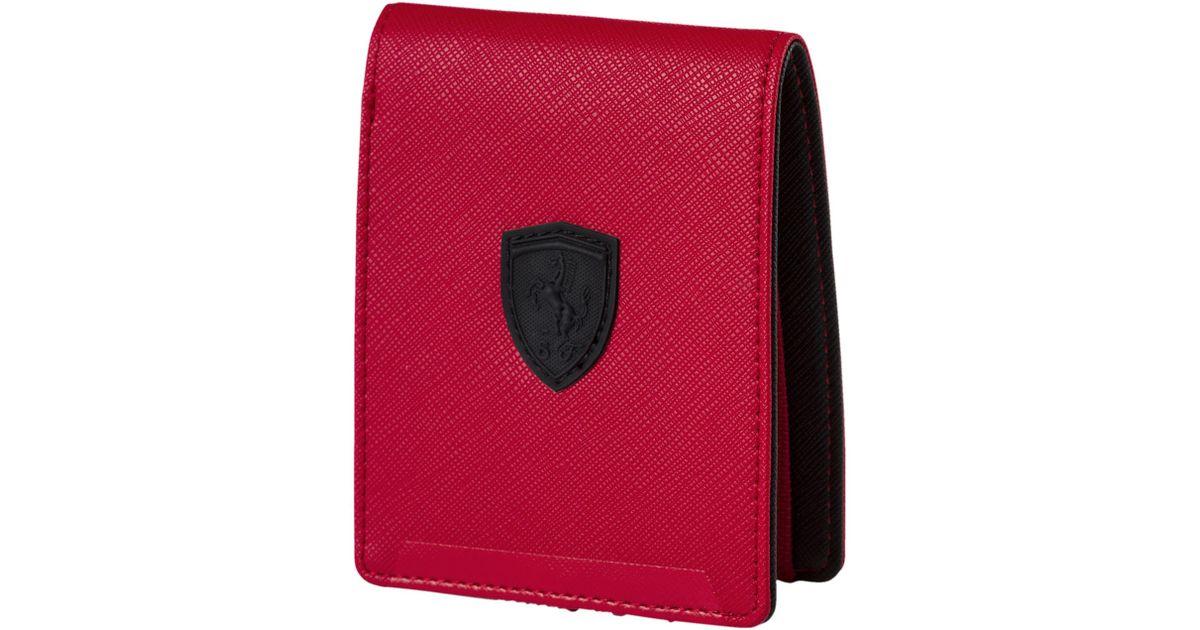 9af79ae52e Lyst - PUMA Ferrari Lifestyle Wallet in Red for Men