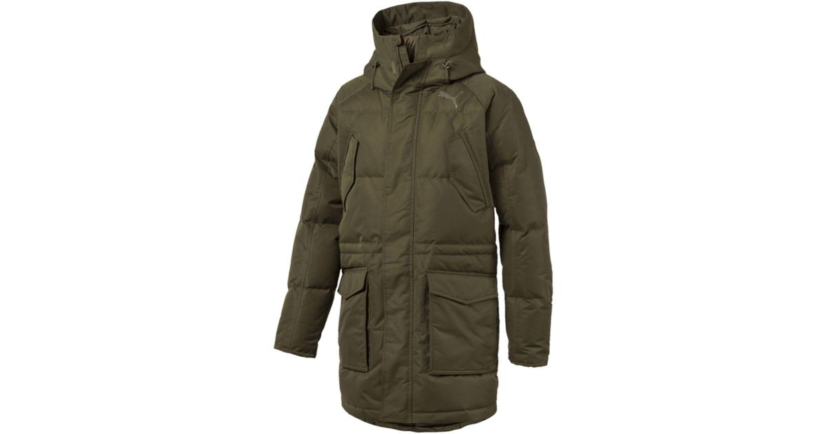 dbe18259f PUMA Green Oversize Down Jacket for men