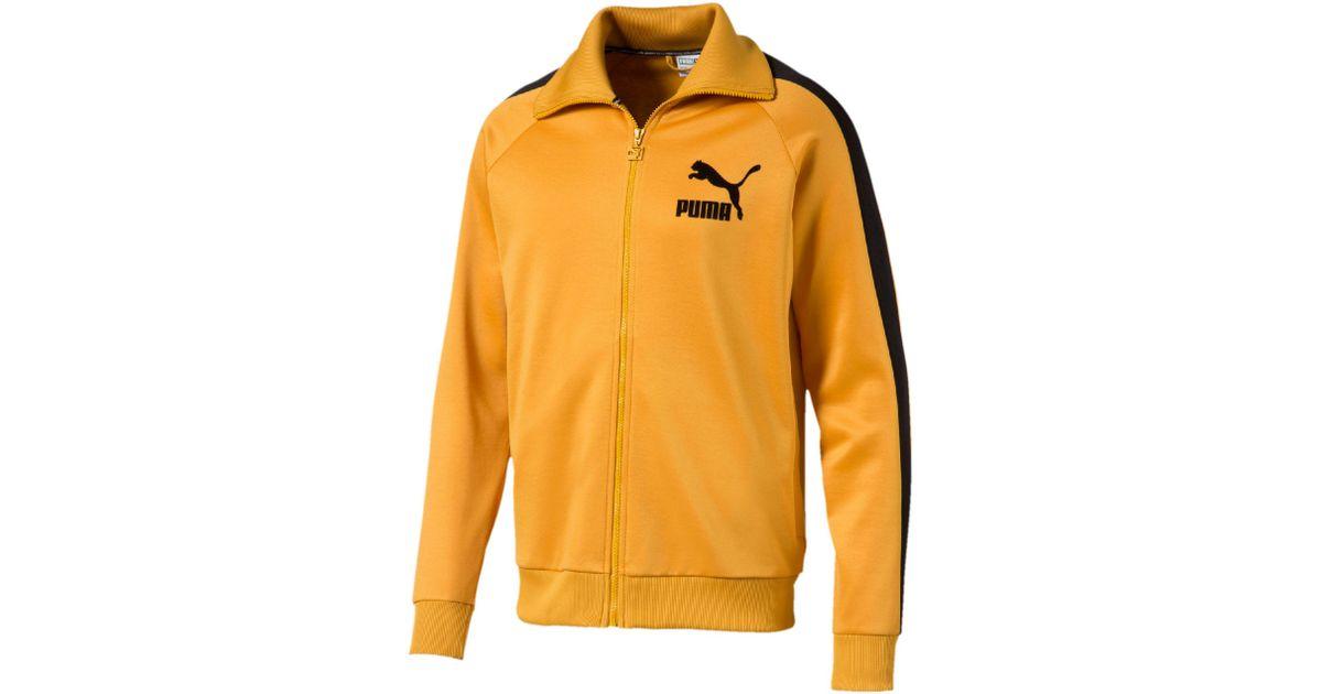 9b1ce7d1 PUMA Yellow T7 Vintage Men's Track Jacket for men