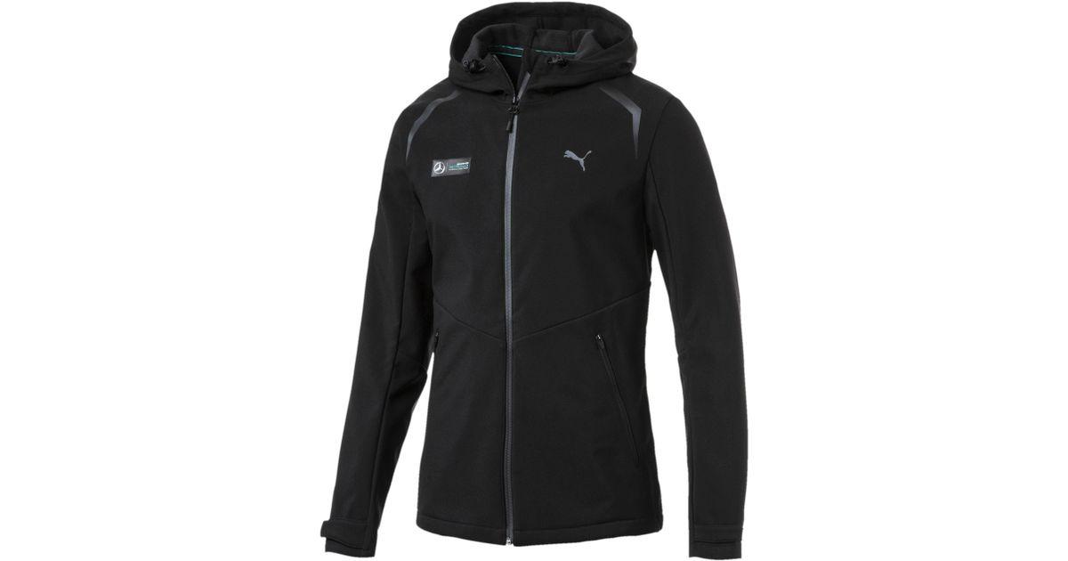 Lyst Puma Mercedes Amg Petronas Vent Softshell Jacket In Black For Men