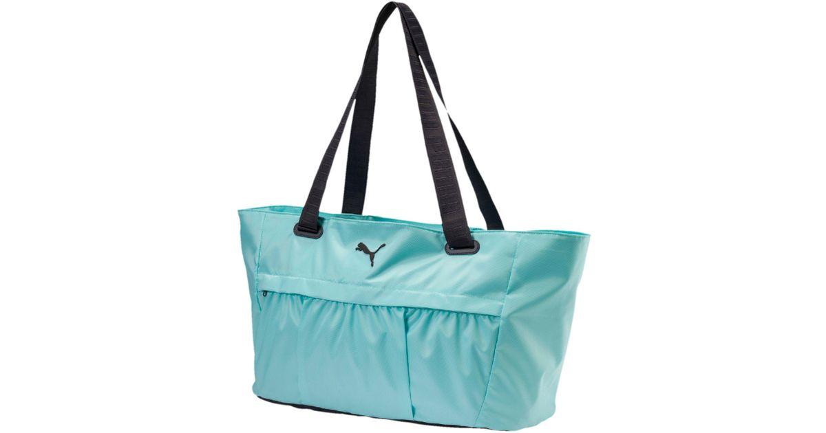 Lyst - PUMA Active Training Women s Workout Bag in Blue 13e60b5b7759d