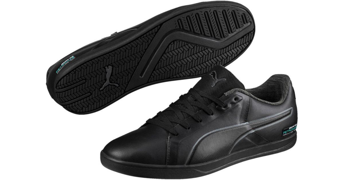 PUMA Black Mercedes Amg Petronas Court Men's Shoes for men