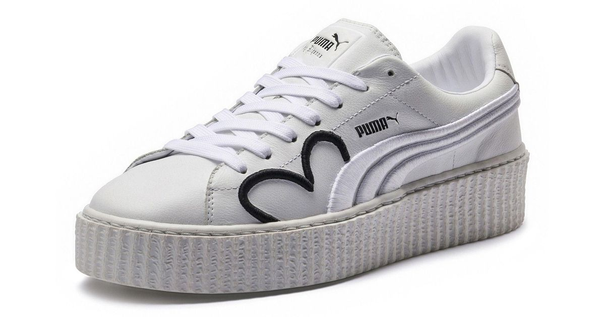innovative design 79a5a bf3f3 PUMA White Fenty Clara Lionel Women's Creeper
