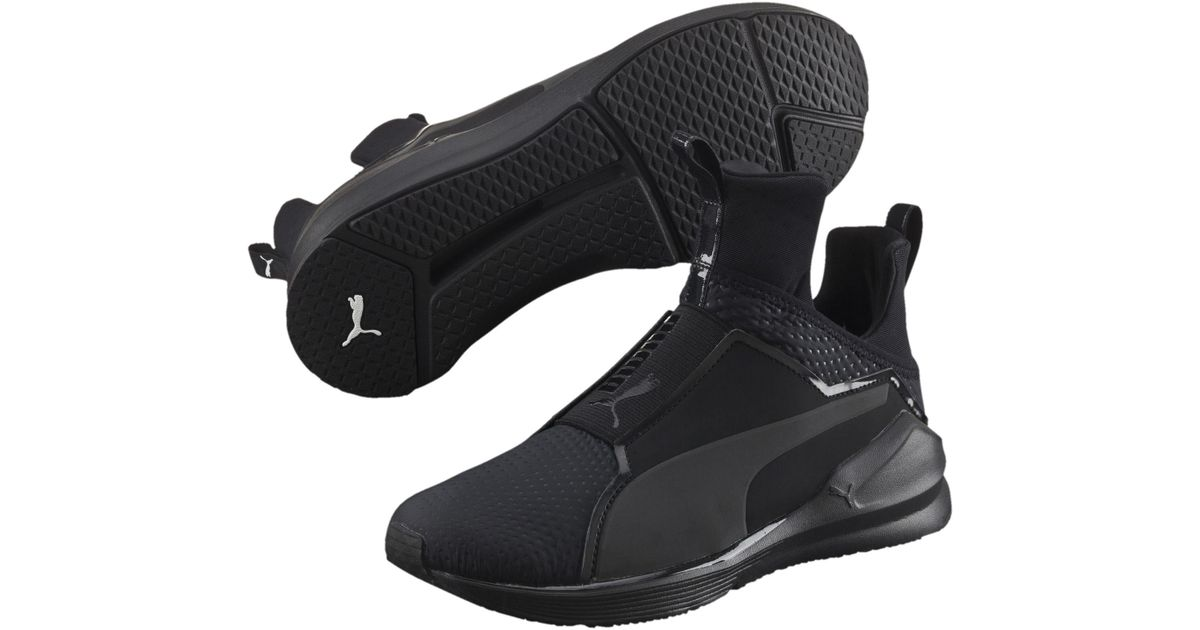 PUMA Black Fierce Quilted Women's Training Shoes