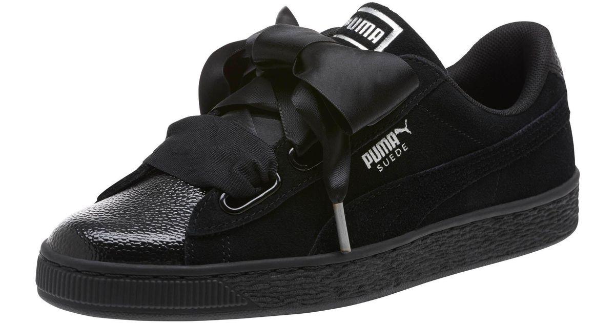 Lyst - PUMA Suede Heart Bubble Women s Sneakers in Black e1fac53bb3