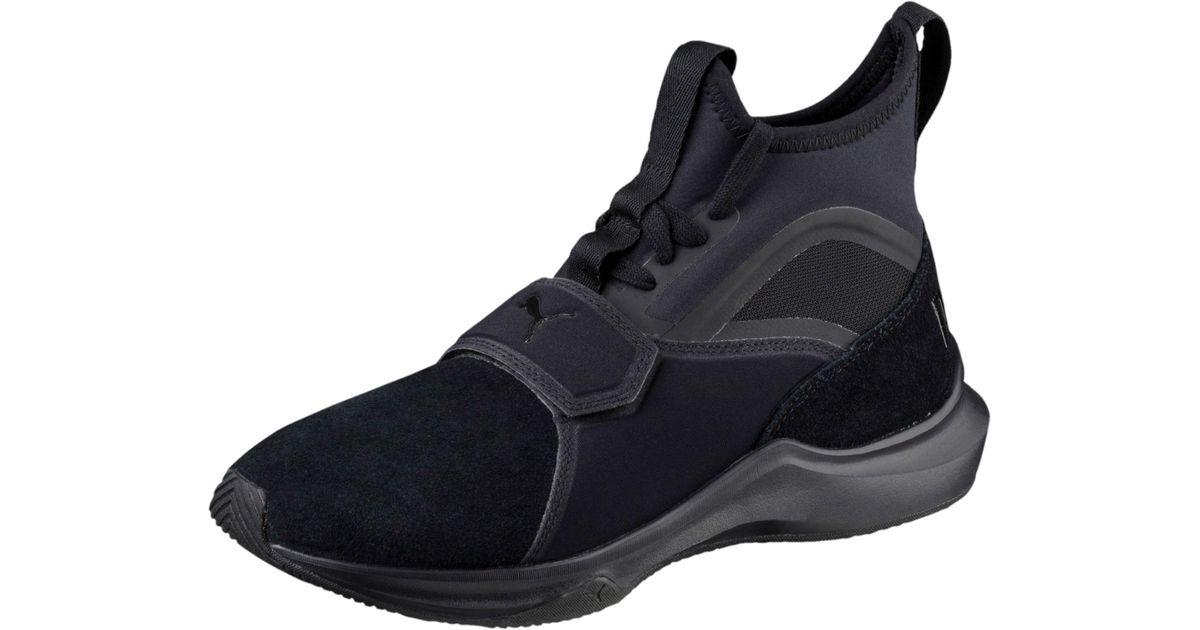 Lyst - PUMA Phenom Suede Women s Training Shoes in Black 81f1b1b03