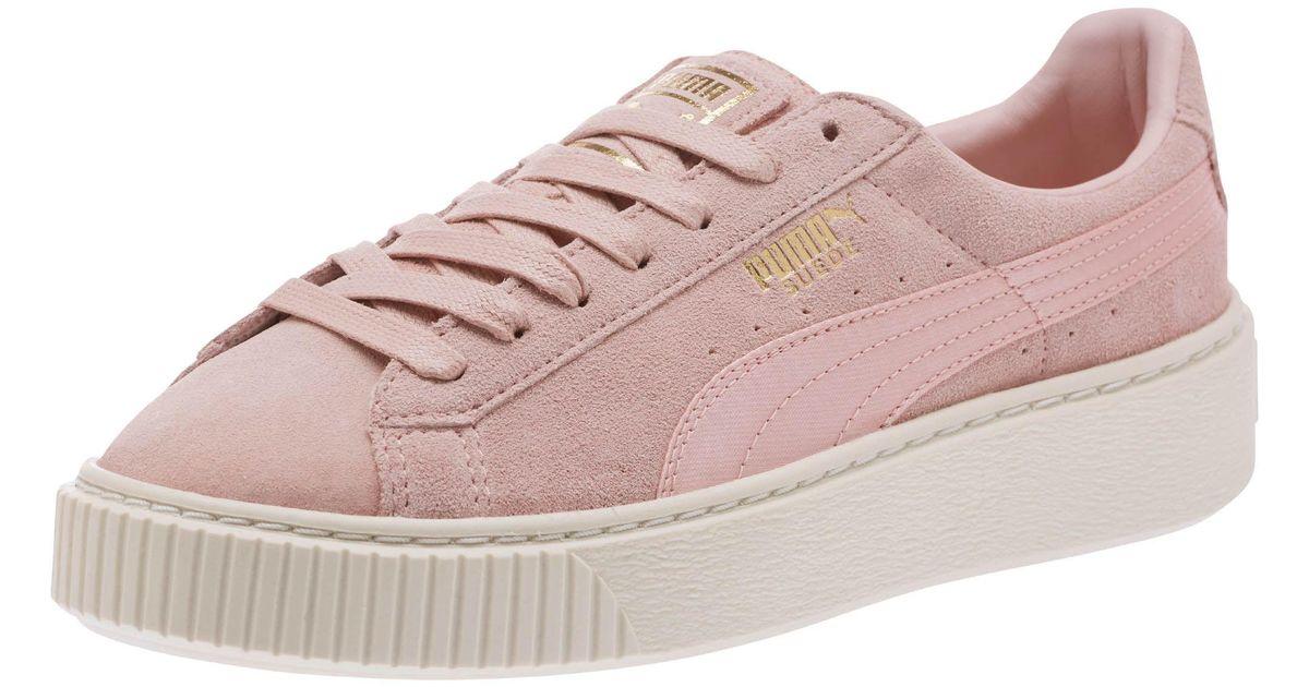 8de1e79da7a6 Sneakers Suede Platform Lyst Satin In Pink Puma Summer Ua6qvXT