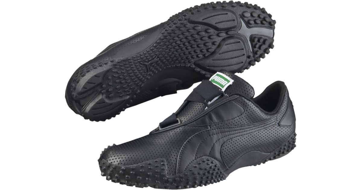 PUMA Mostro Perf Leather in Black for