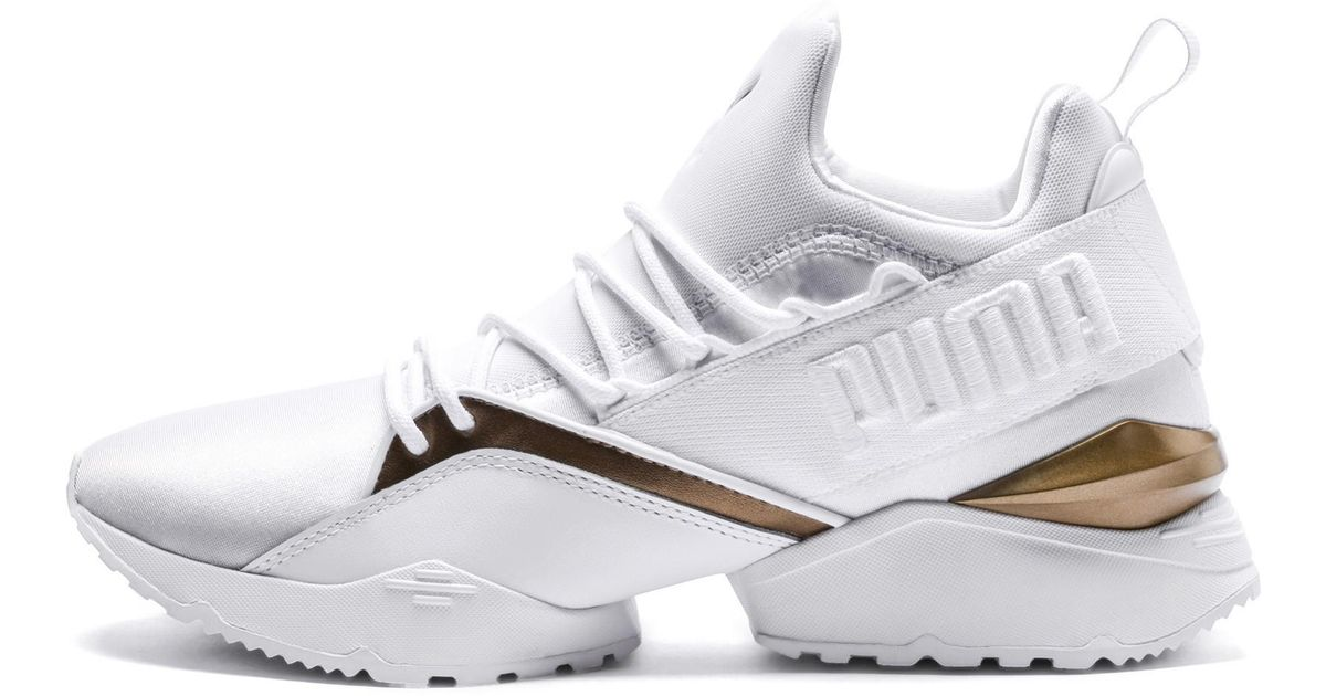 PUMA Rubber Muse Maia Luxe in White - Lyst