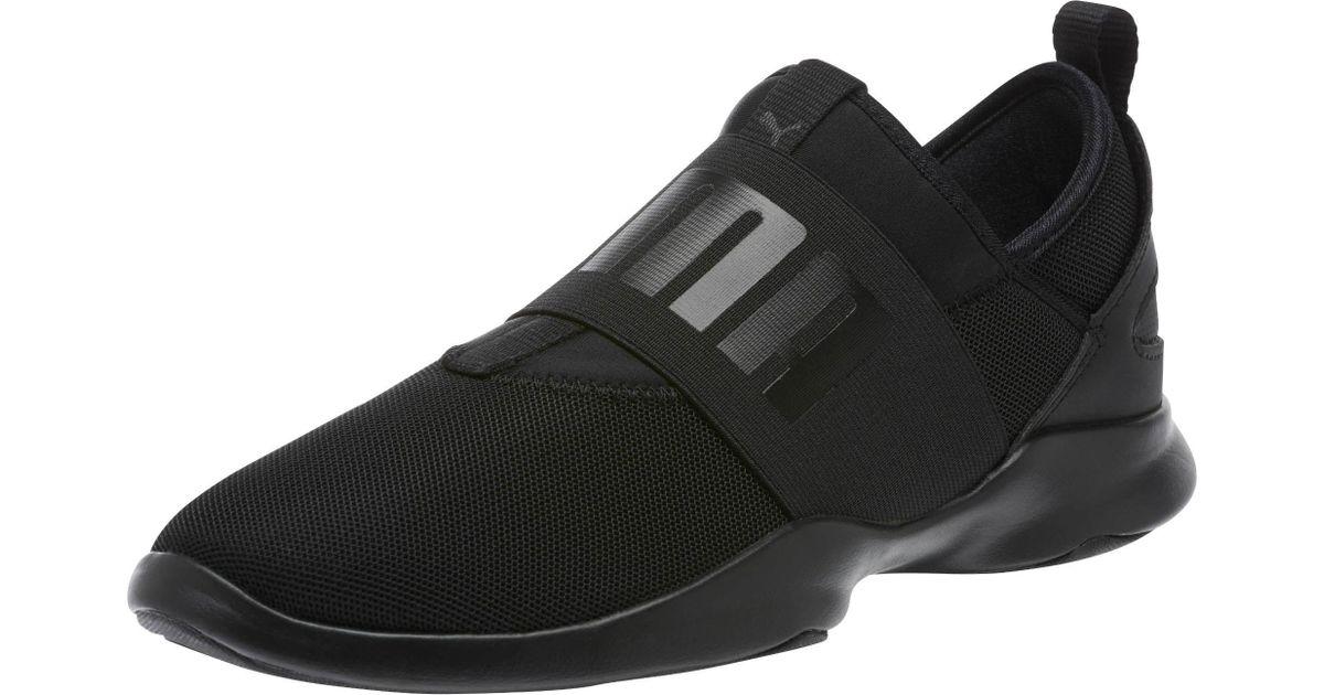 1b41c8f0637 Lyst - PUMA Dare Women s Slip-on Sneakers in Black