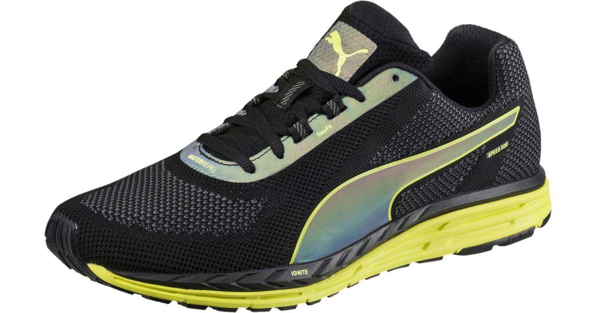 0caacbcd8f9 Lyst - PUMA Speed 500 Ignite Nightcat Men s Running Shoes in Black for Men