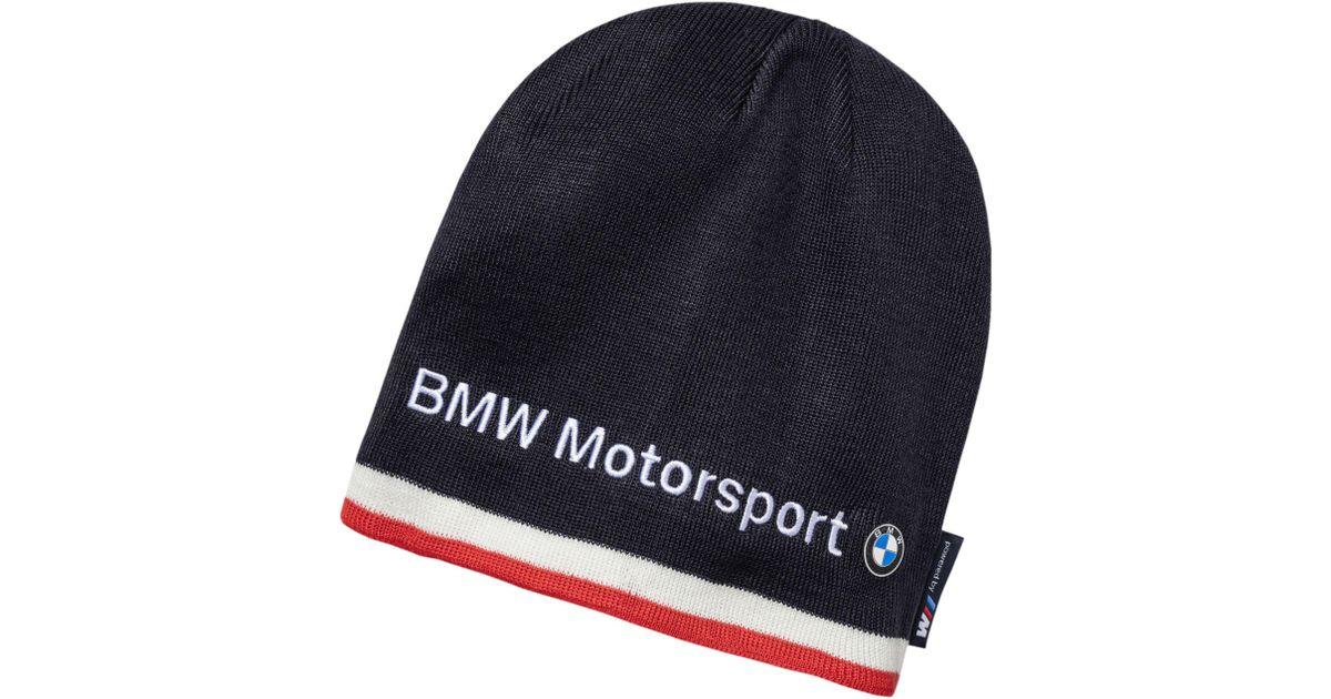 271a2a0805f PUMA Blue Bmw Motorsport Beanie for men