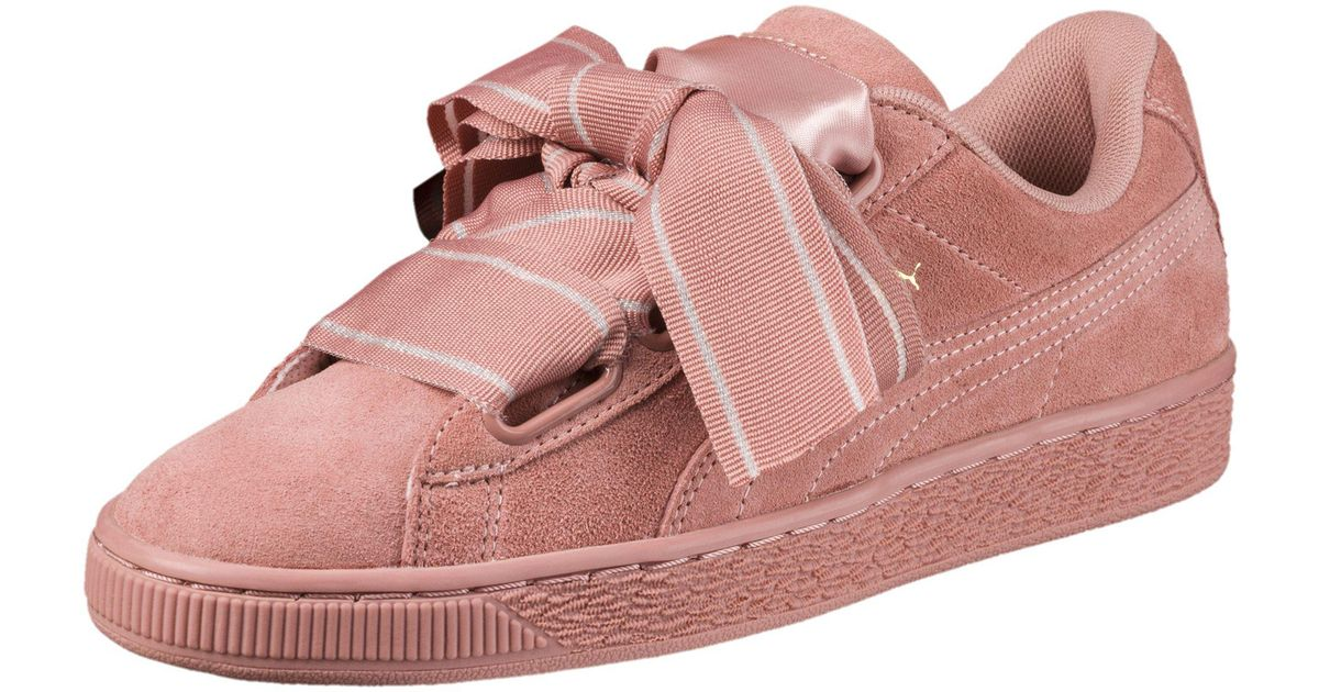 reputable site 0938c dad54 PUMA Pink Suede Heart Satin Ii Women's Sneakers