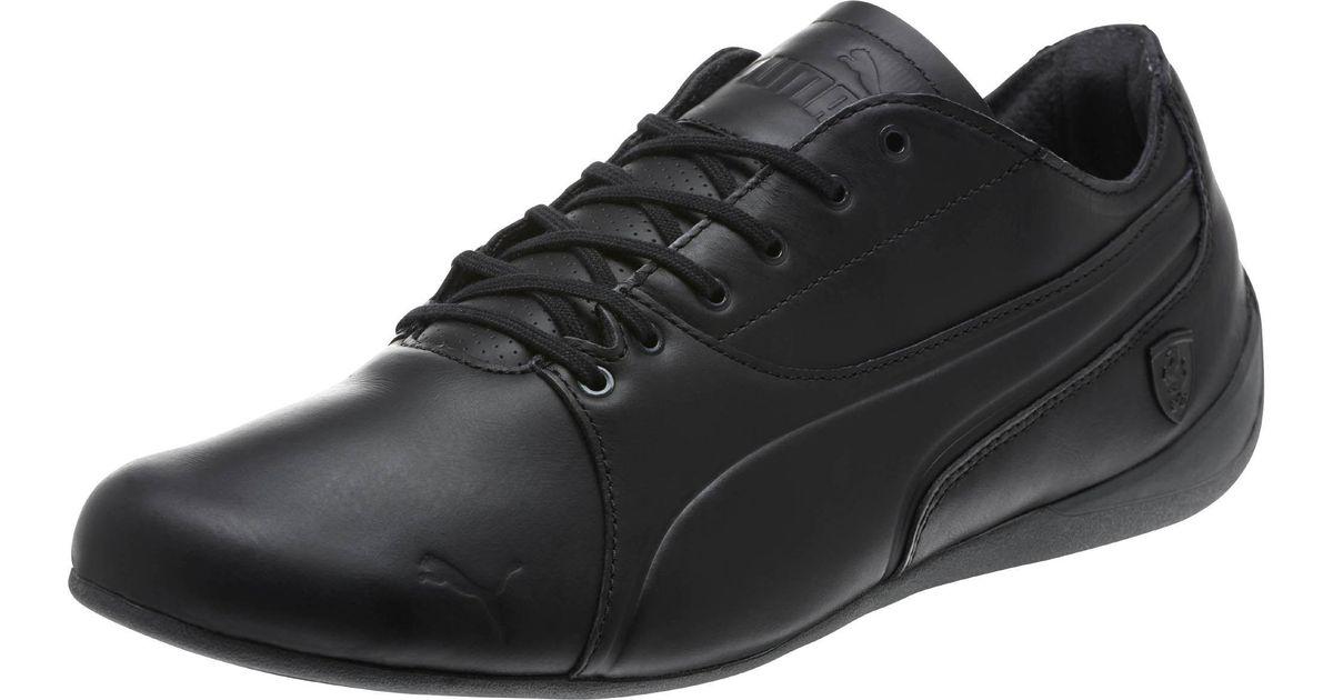 PUMA Black Ferrari Drift Cat 7 Ls Men's Shoes for men