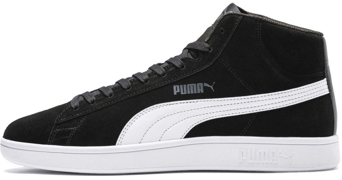best service 777d2 cc4dc PUMA Black Smash V2 Mid Sneaker for men
