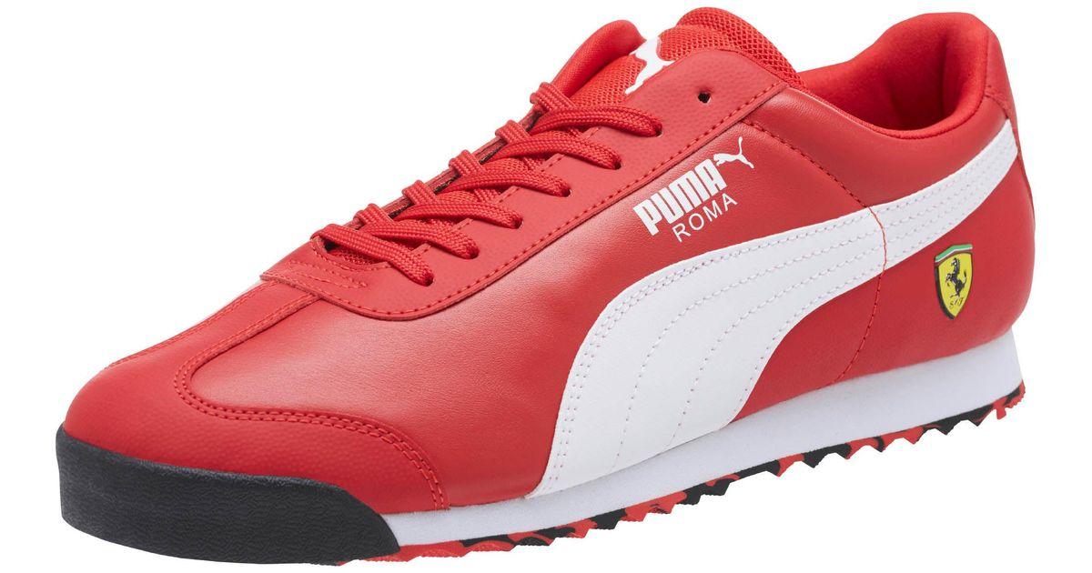 PUMA Leather Scuderia Ferrari Roma Men