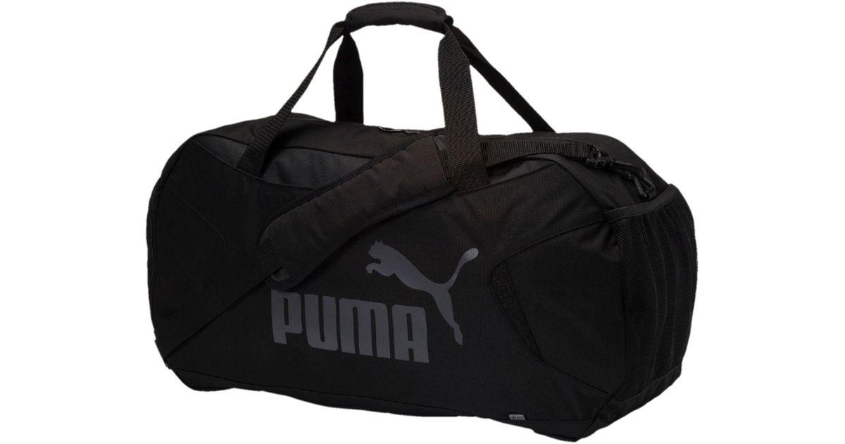 Lyst - PUMA Gym Medium Duffle Bag in Black for Men