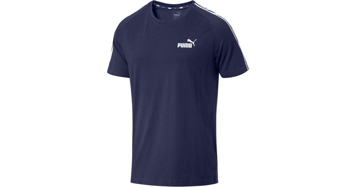 222392c57af Lyst - PUMA Heritage Tape T-shirt in Blue for Men