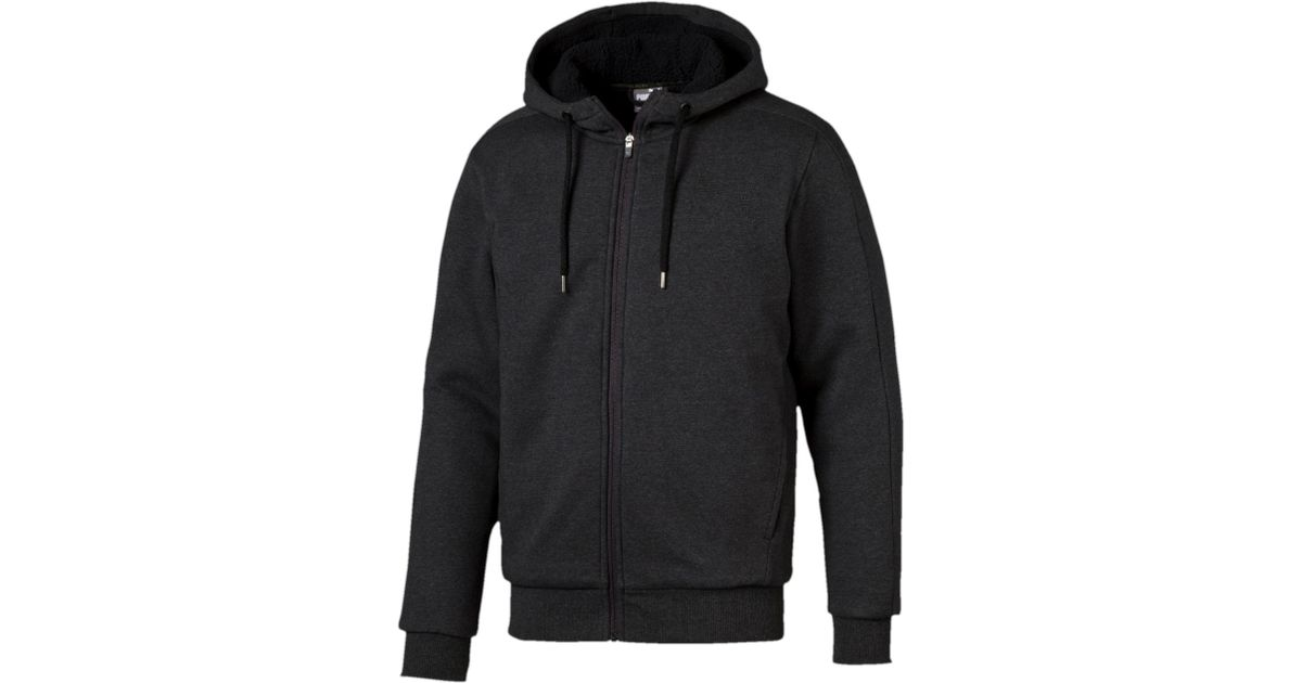 193c4addfb PUMA Gray Core Sherpa Zip-up Hoodie for men