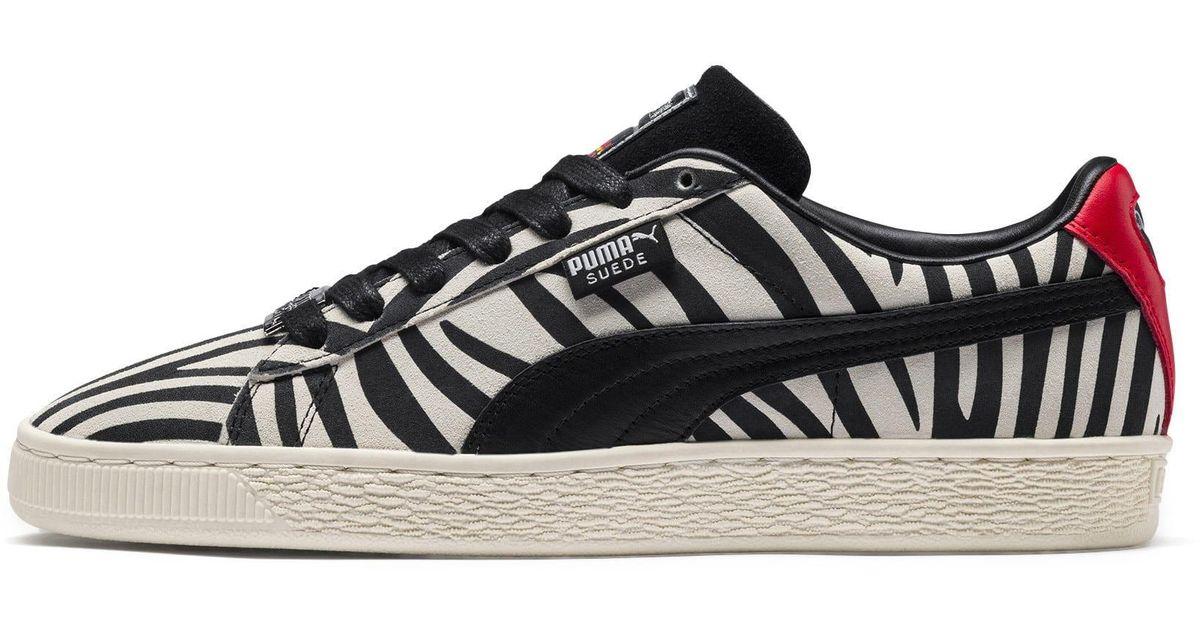 huge discount 3be29 af470 PUMA Black X Paul Stanley Suede Men's Sneakers for men