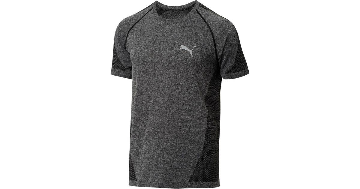 92a398b5e6a PUMA Evoknit Better T-shirt in Black for Men - Lyst