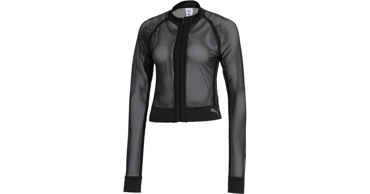 913a8e39f5 PUMA Black Sg X Mesh Jacket